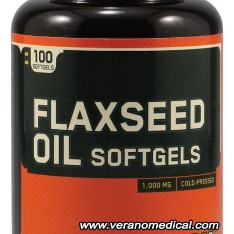 Optimum Nutrition Flaxseed Oil Softgels (100 gélules)
