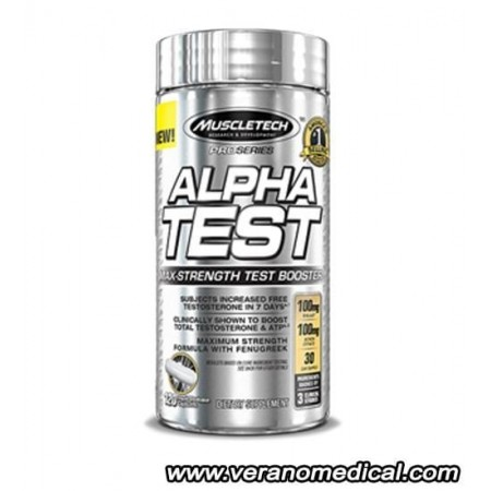 alpha test 120caps- musclTech
