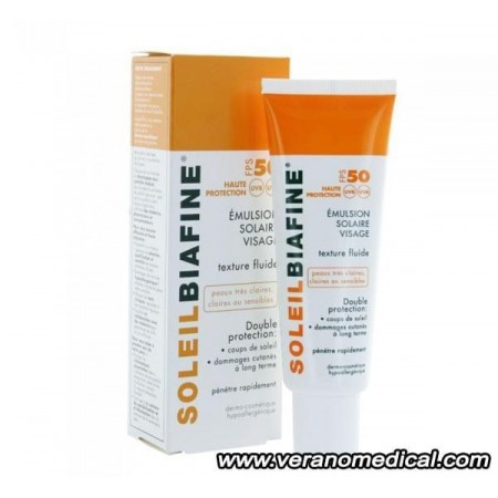 Biafine soleil spf 50+ tres haute protection