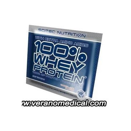 100% WHEY PROTEIN SCITEC EN SACHET - 30 gr