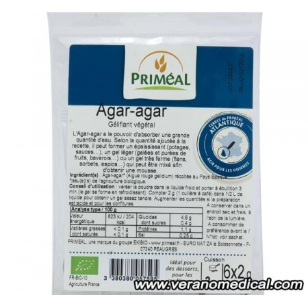 Agar-agar Gélifiant poudre 6 x 2g  - Priméal