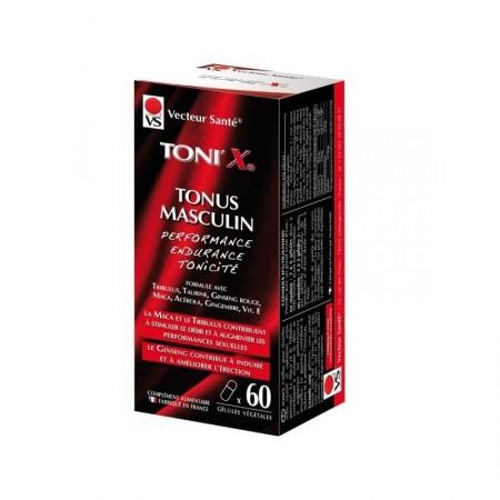 Toni'x 60 gél - Tonus sexuel hommes Vecteur santé