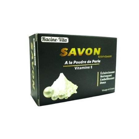 Racine-Vita Savon Éclaircissant A la Poudre de Perle Vitamine E