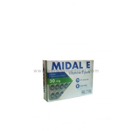 MIDAL E VITAMINE E 30 MG 30 CAPSULES