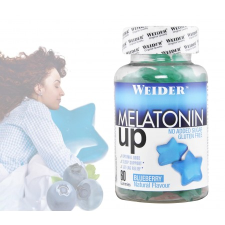Melatonin up 60 gommes au goût de myrtille