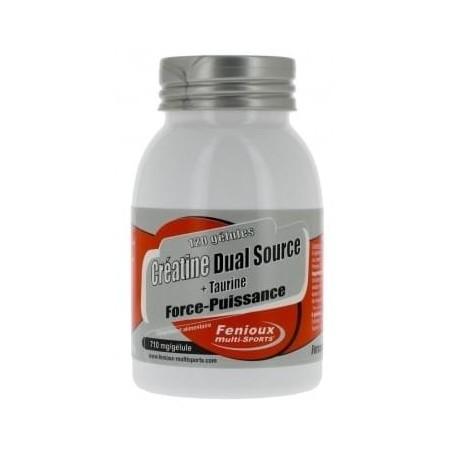 CREATINE DUAL SOURCE + TAURINE (710 mg / gelule) Force-Puissance
