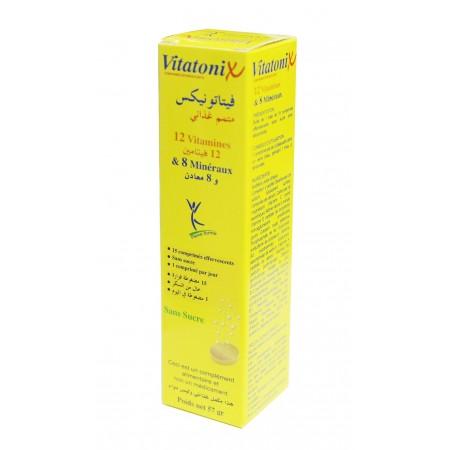 Vitatonix 12 vitamines et 8 minéraux  15 comprimés