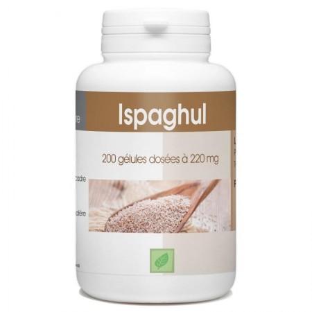 Ispaghul ( psyllium) 200 gélules dosés à 220mg