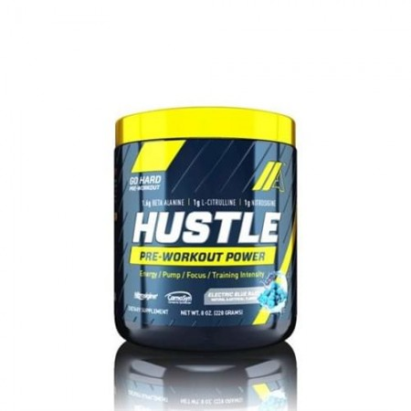 hustle pre-workout au goût de bleu razz
