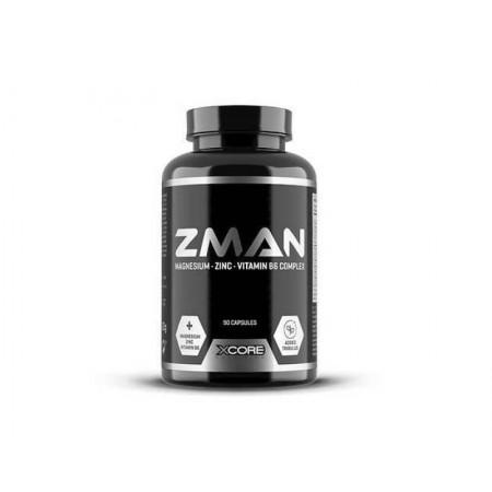 ZMAN Zinc magnésium vitamine B6 de xcore 90 capsules