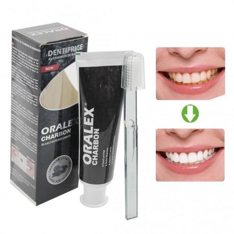 Dentifrice Charbon (Blancheur Des Dents ) + Brosse Offert