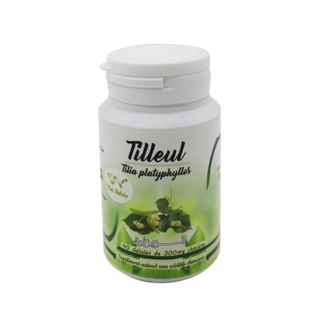 Tilleul tilia platyphylles 40 gélules de 300 mg