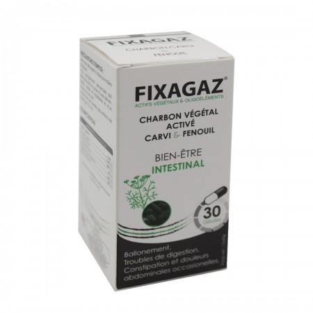 Fixagaz charbon végétal activé carvi et fenouil (bien-être intestinal) 30 géluless