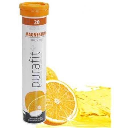 Purafit+ magnésium 187.5 mg sans sucre au goût orange