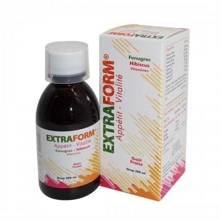 sirop Extraform appétit et vitalité goût de fraise 200 ml