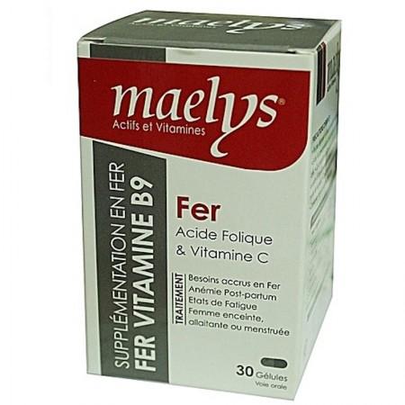 Fer Acide folique & Vitamine C 30 gélules