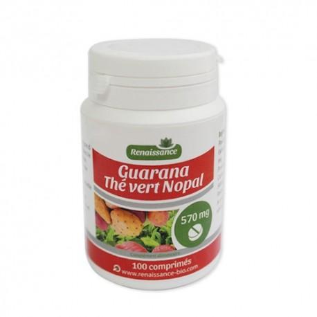 Guarana Nopal Thé Vert - 570 mg - 100 Comprimés