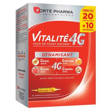 Forte pharma vitalite 4G dynamisant 30 ampoules