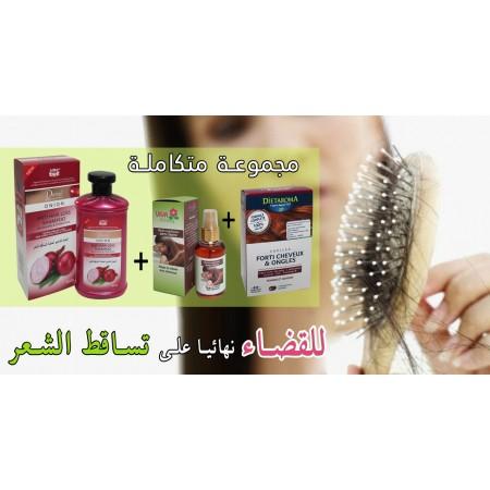 pack anti-chute de cheveux (shampoing d'oignon + forti cheveux et ongle + huile anti chute vivafleur)