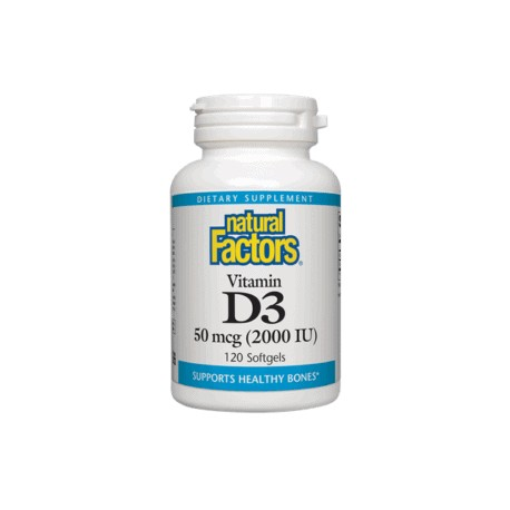 Vitamin D3 (2000 IU) 50 mcg 120 gélules