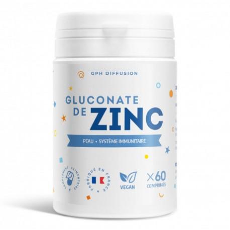 Gluconate de zinc 15 mg - 60 comprimés