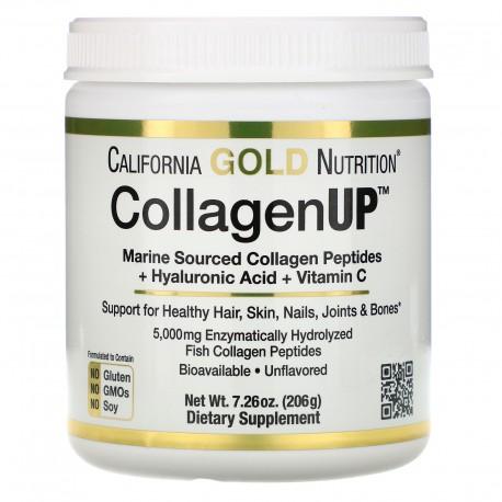 collagène hydrolysé marin + acide hyaluronique + vitamine C, (206 g