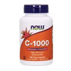 Vitamine C-1000,NOW 100 gélules végétales