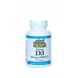 vitamine D3 (2 000 UI (50 mcg) 120 Capsules