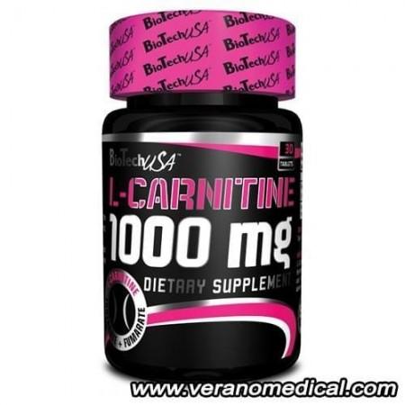 L-Carnitine 1000mg Biotech USA 30 tabl