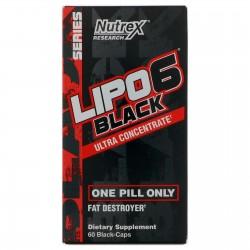 Lipo 6 Black - 60 gélules | Nutrex