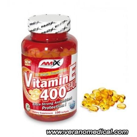 Vitamin E 400 IU 100 Gélules - Amix
