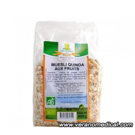 Muesli Quinoa aux Fruits  500gr