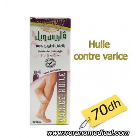 Huile de massage bio contre les varices 120 ml